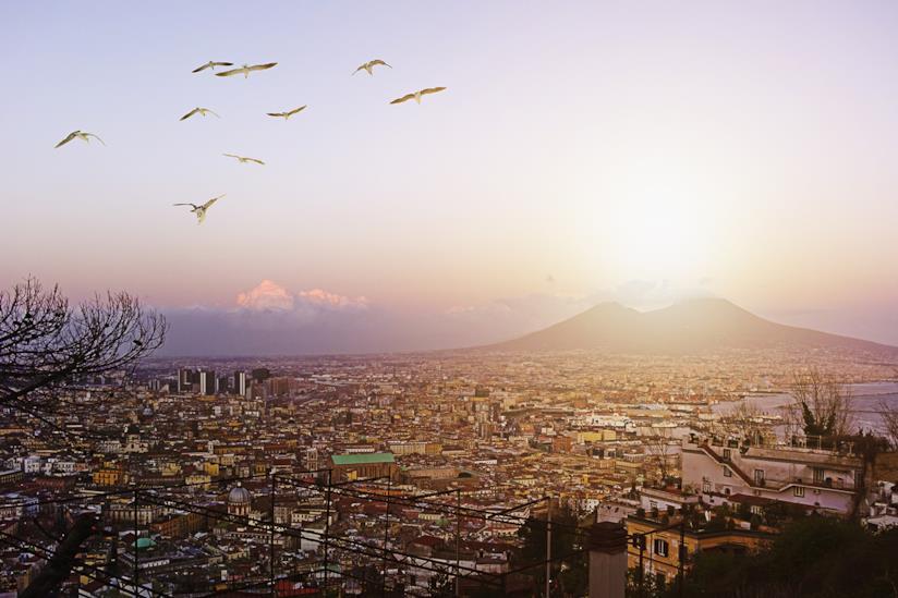 Veduta del Vesuvio