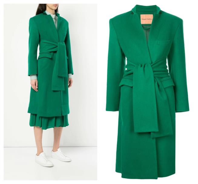 In verde, il cappotto di moda per l'autunno inverno 2018-19