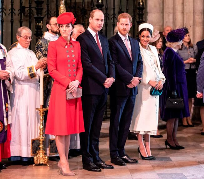 Kate, William, Harry e Meghan