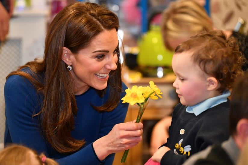 Kate Middleton con un bambino irlandese