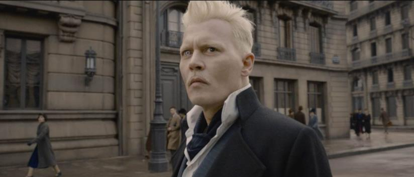 Johnny Depp in Animali Fantastici: I Crimini di Grindelwald