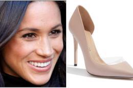 Collage tra Meghan Markle e le sue scarpe