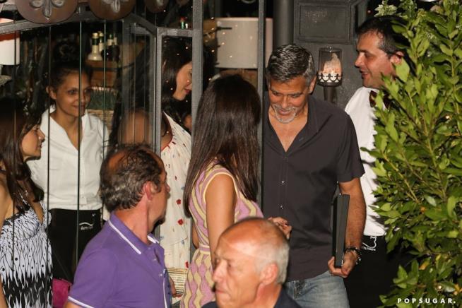 George Clooney e la moglie Amal al Gatto Nero
