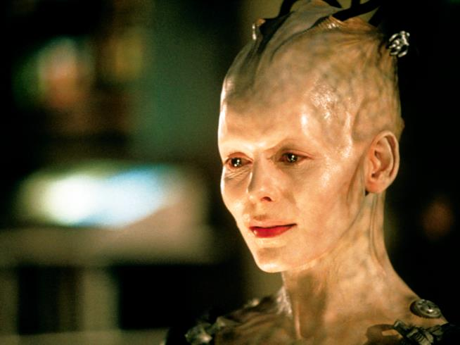 La regina robot di Star Trek chiamata Borg Queen