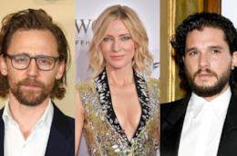 Gli attori Tom Hiddleston, Cate Blanchett e Kit Harington