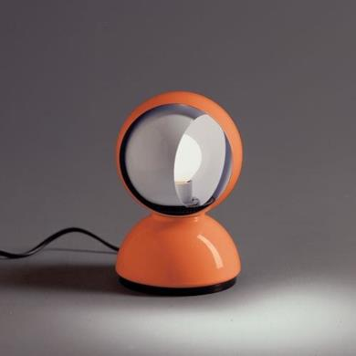 Artemide Eclisse, Lampada Tavolo Arancio