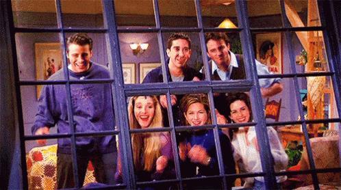 Joey, Phoebe, Ross, Rachel, Chandler e Monica