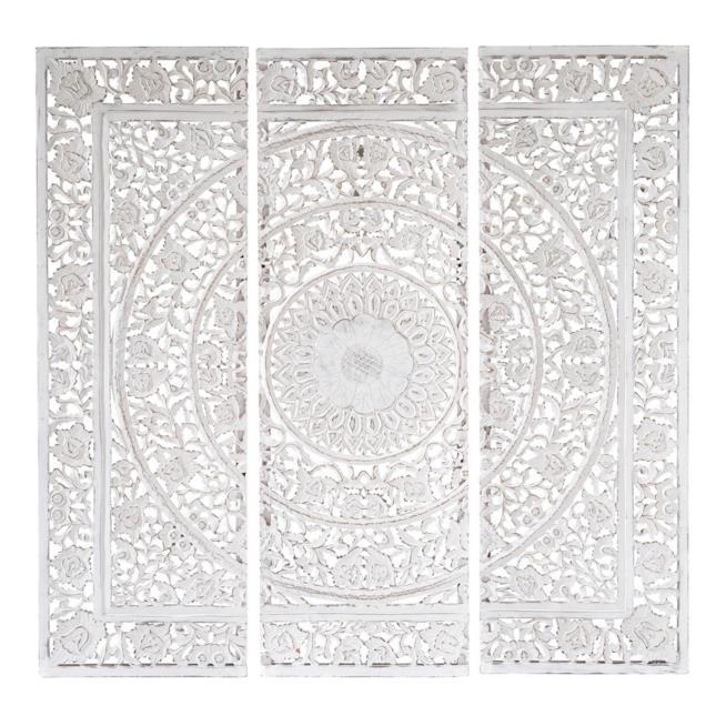 Trittico in legno bianco