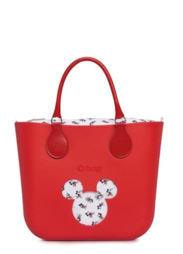 O bag mini rossa con Topolino