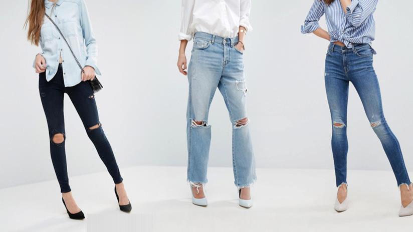 Tutti i migliori jeans strappati da donne dell'estate 2019