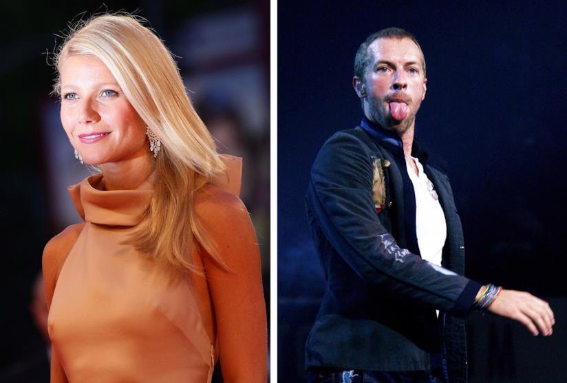 L'attrice Gwyneth Paltrow e Chris Martin