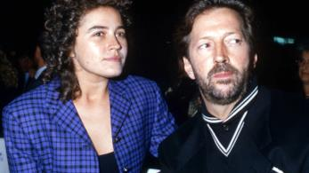 Lory Del Santo con Eric Clapton, ai tempi della loro relazione