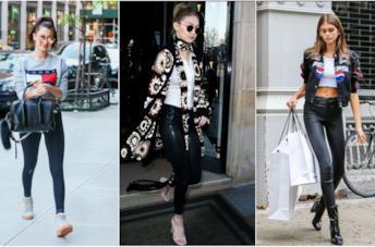 Celebrity in leggings