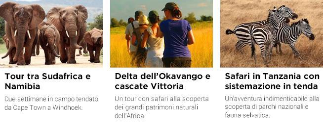 Offerte di viaggio per safari in Africa