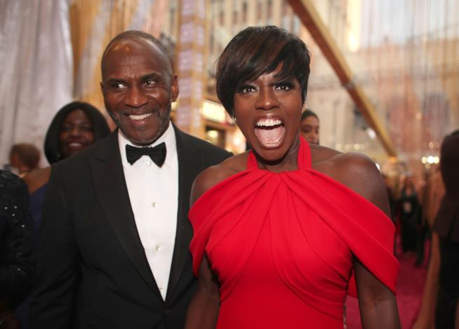 Viola Davis con Julius Tennon agli Academy Awards 2017