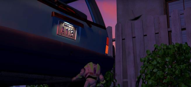 Scena tratta da Toy Story, A113