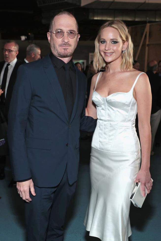 Jennifer Lawrence con l'ex Darren Aronofsky