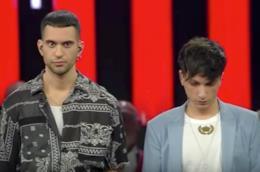 Mahmood e Ultimo durante la finale di Sanremo 2019
