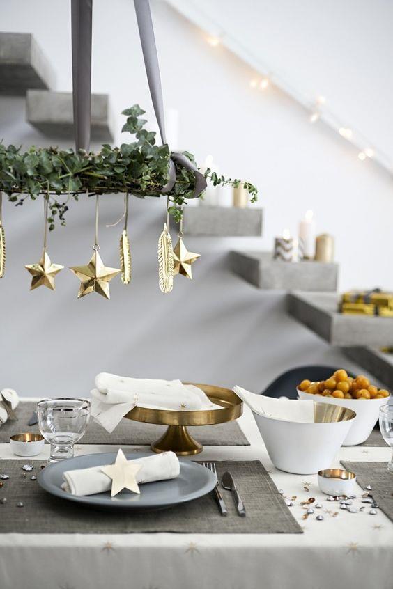 Oro e grigio per il Natale 2018