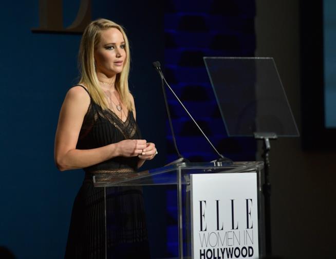 Jennifer Lawrence in una delle sue ultime apparizioni pubbliche
