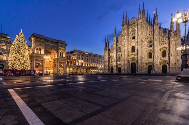 Il duomo di Milano a Natale