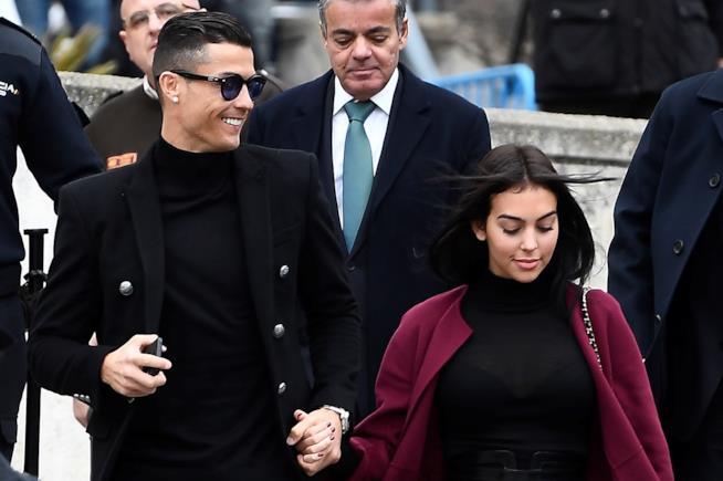 Cristiano Ronaldo e la compagna