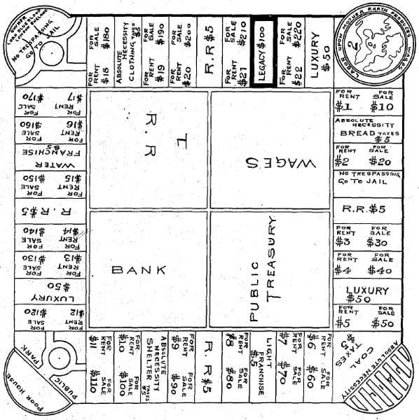 Il progetto di Elizabethg Magie per l'antenato di Monopoli, LAndlord's GAme