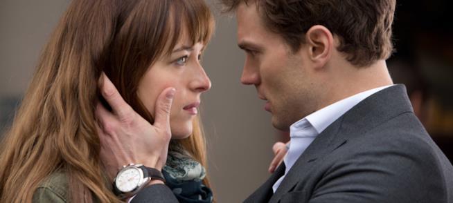 Ana e Christian in un momento d'intimità