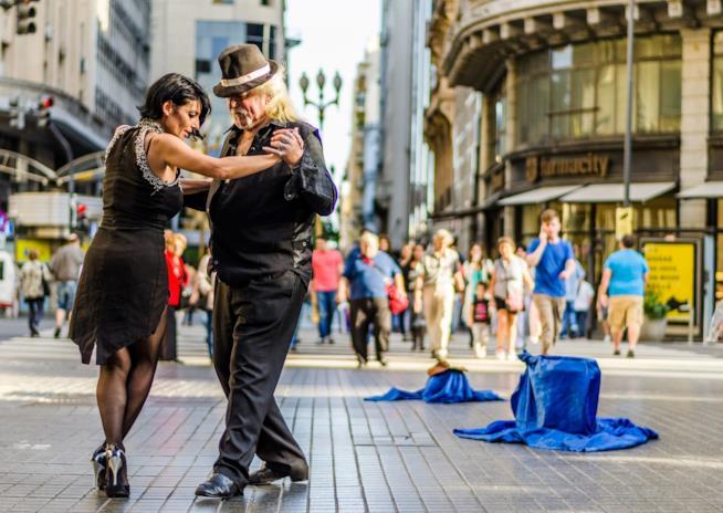 Argentina, ballerini di tango a Buenos Aires