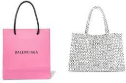 Le mini-tote di Zara e Balenciaga