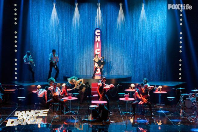 Susy Laude sul palco di Dance Dance Dance