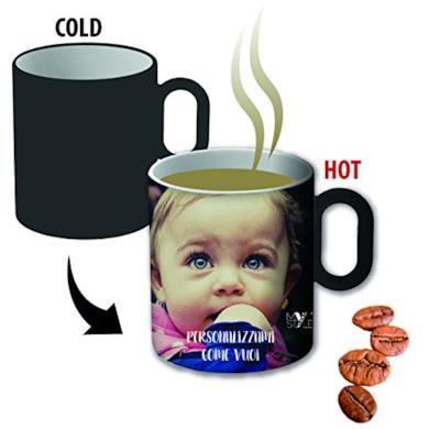 Due tazzine Espresso Magiche termosensibili e personalizzabili