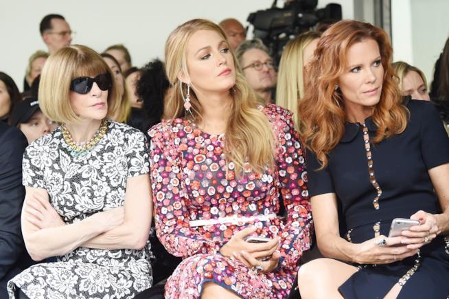Blake Lively a una sfilata della New York Fashion Week