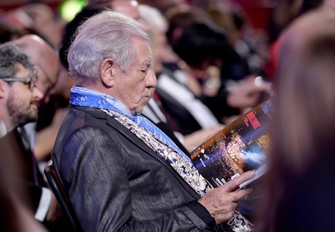 Ian McKellen agli Olivier Awards 2017