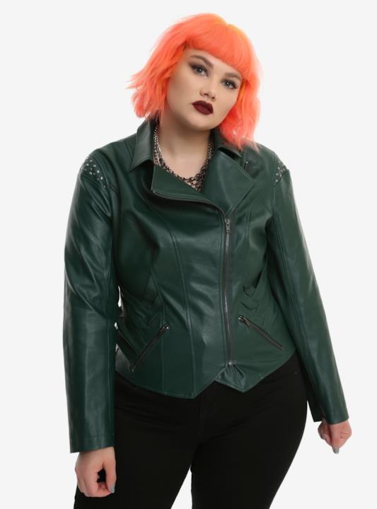 La giacca in pelle per le taglie forti di Her Universe e Hot Topic