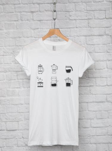 T-shirt con caffè