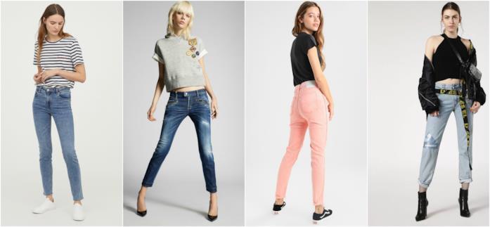 Jeans stile classico o lavaggio colorato