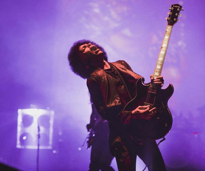 Prince durante un'esibizione