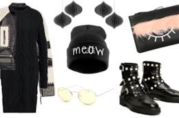Idee outfit total black con 500 euro