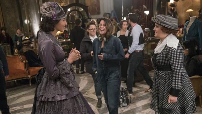 Gal Gadot, Patty Jenkins e Lucy Davis sul set di Wonder Woman