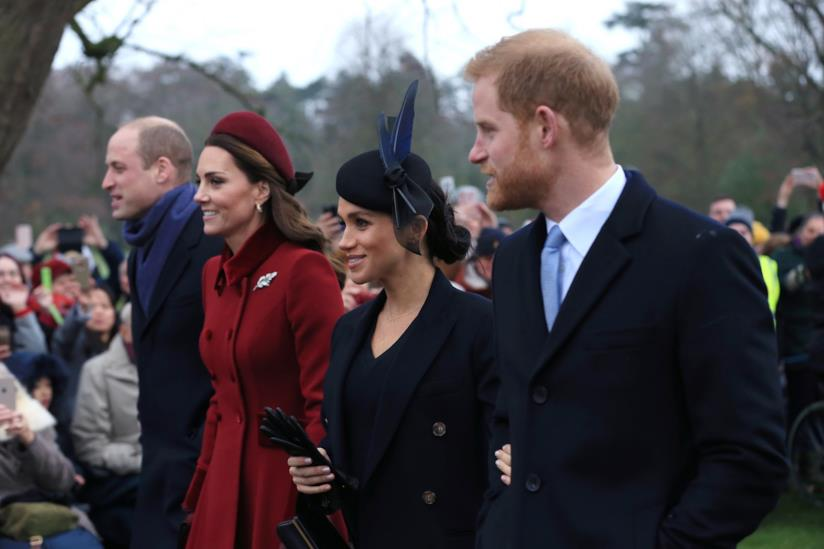 William, Kate, Meghan e Harry