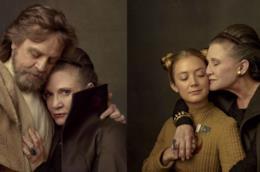Carrie Fisher conmark Hamill e la figlia Billie Lourd