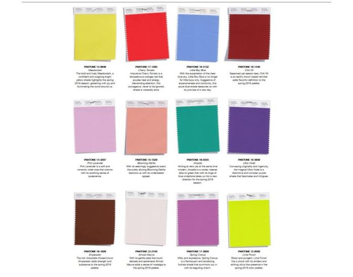 Primavera 2018: i 12 colori da indossare