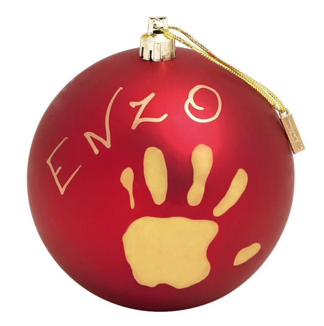 Pallina di Natale con impronta