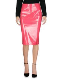 Pencil skirt corallo