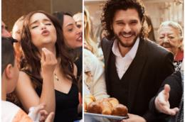 Alcuni fotogrammi degli spot Dolce & Gabbana con Emilia Clarke e Kit Harington