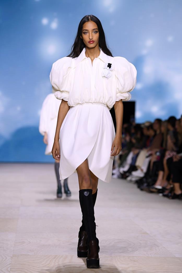 Look con gonna Louis Vuitton