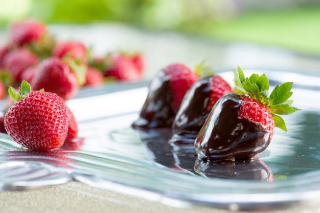 Frutti rossi al cioccolato
