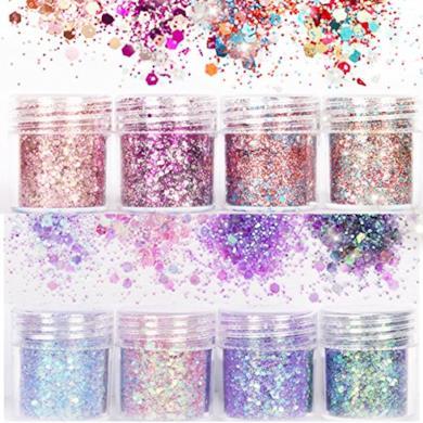 Set di polvere glitter per unghie