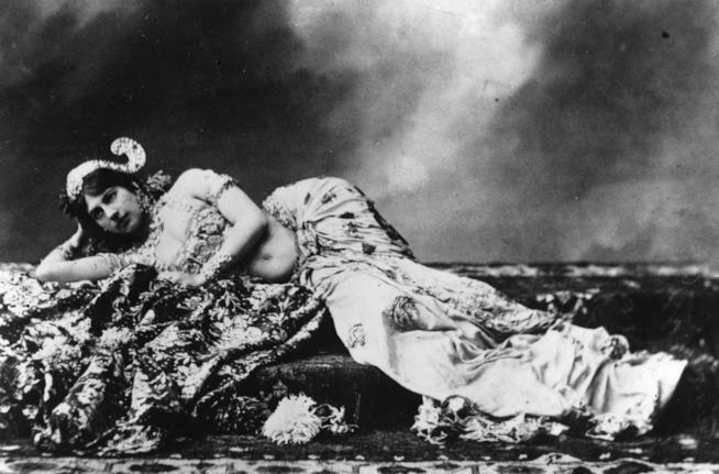Una foto di archivio di Mata Hari, la donna e spia più celebre